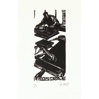 """Valentina La Rocca French """"Le Bois Gravé"""" Woodcut Print For Sale"""
