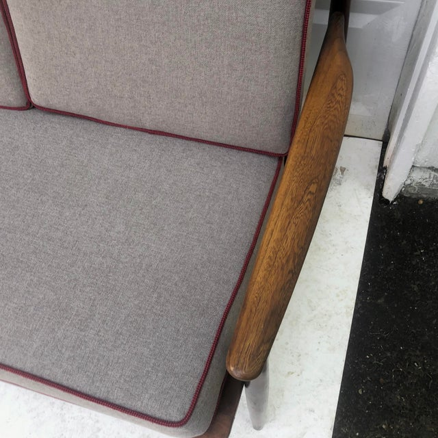 Dove Gray Mid-Century Modern Two Piece Sofa by Baumritter For Sale - Image 8 of 13