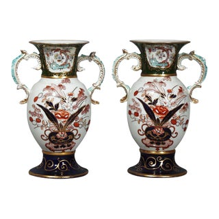 Mason's Ironstone Japan-Pattern Vases - A Pair For Sale