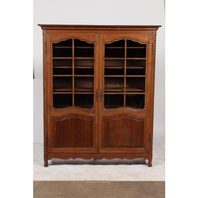 19th C. Louis XV Bookcase With Glass Doors - Image 2 of 9