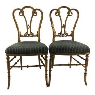 Gilded Ballroom Chairs - A Pair