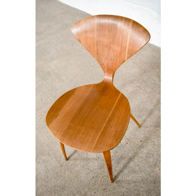 Mid Century Norman Cherner Molded Plywood Side Chair For Sale - Image 9 of 11