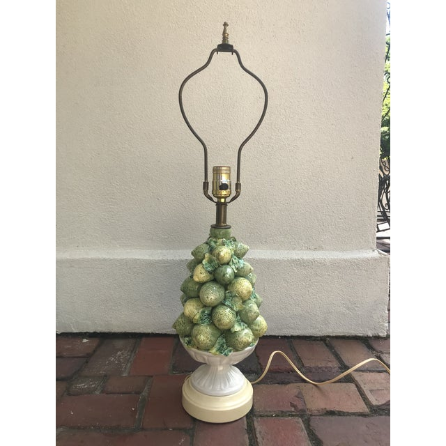 Italian Lemons and Limes Topiary Lamp For Sale - Image 10 of 10