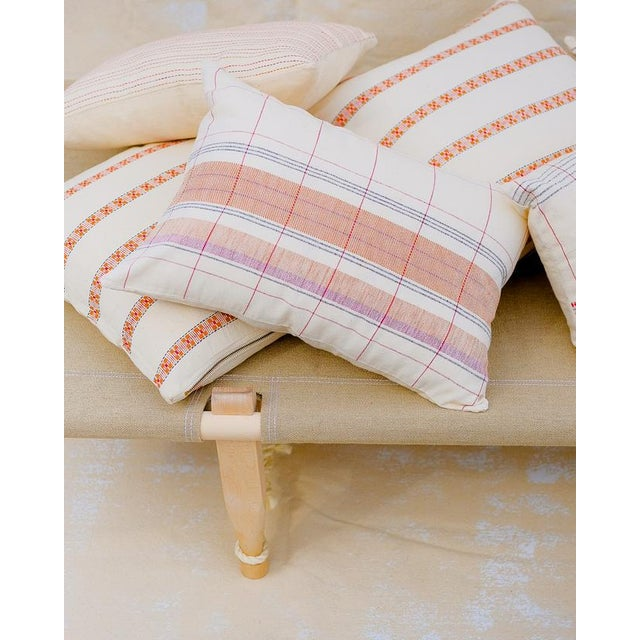 Contemporary Razia Organic Handwoven Pillow with Insert For Sale - Image 3 of 6