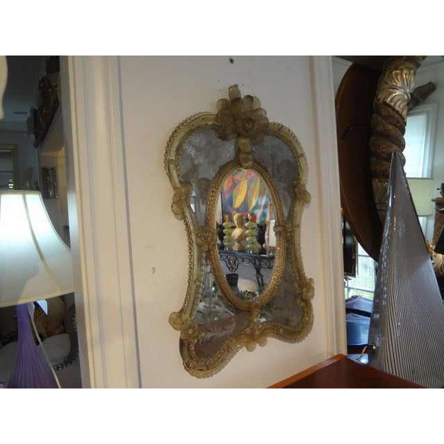 Antique Etched Venetian Mirror For Sale - Image 11 of 13