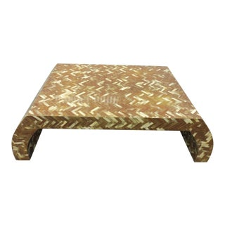 1970's Large Piarotti Tessellated Horn Coffee Table For Sale