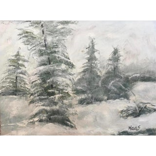 """""""First Snow, Mount Zion National Park"""" Oil Painting For Sale"""