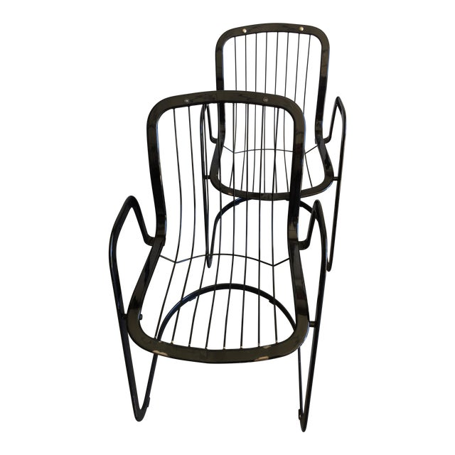 Willy Rizzo Cidue Italian Retro Mod Chairs - A Pair - Image 1 of 7