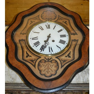 """19th Century Antique French Napoleon III """"Oeuil De Boeuf"""" Eye of the Ox Inlaid Wall Clock Preview"""