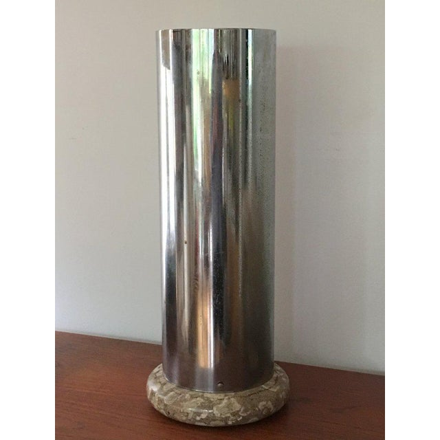 Chrome and Marble Umbrella Stand For Sale - Image 4 of 4