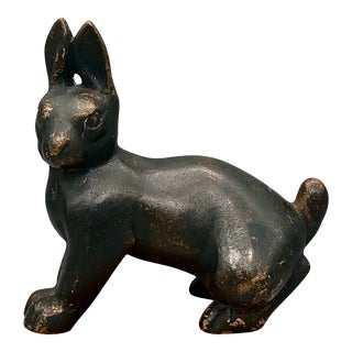 19th Century Meiji Era Cast Bronze Rabbit Statue For Sale