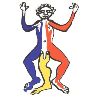 Alexander Calder, Three Legged Figure, Lithograph, 1963 For Sale