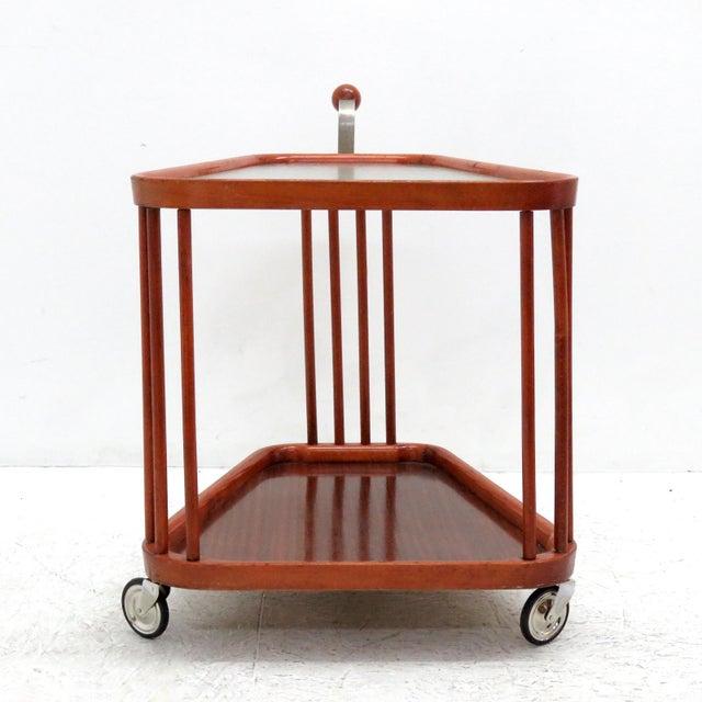 Glass 1960s Vintage Swedish Serving Cart For Sale - Image 7 of 11