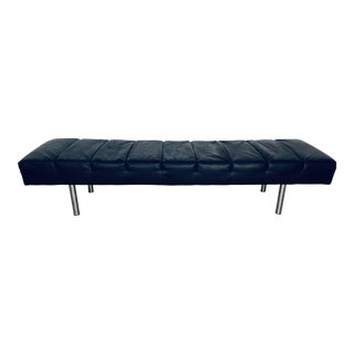 Modern Naugahyde Tufted Bench For Sale