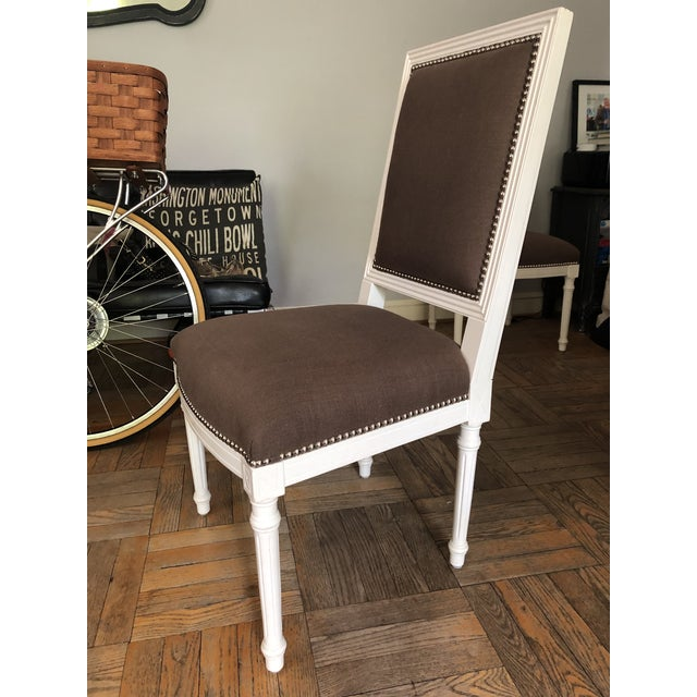 Hollywood Regency Jonathan Adler Dining Chairs - a Pair For Sale - Image 3 of 11
