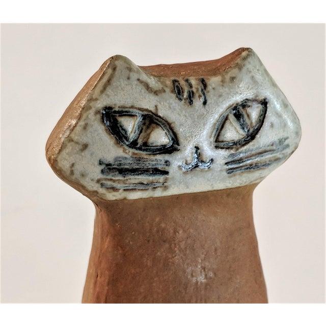 Ceramic 1970s Swedish Lisa Larson Lilla Zoo Cat Figurine For Sale - Image 7 of 10