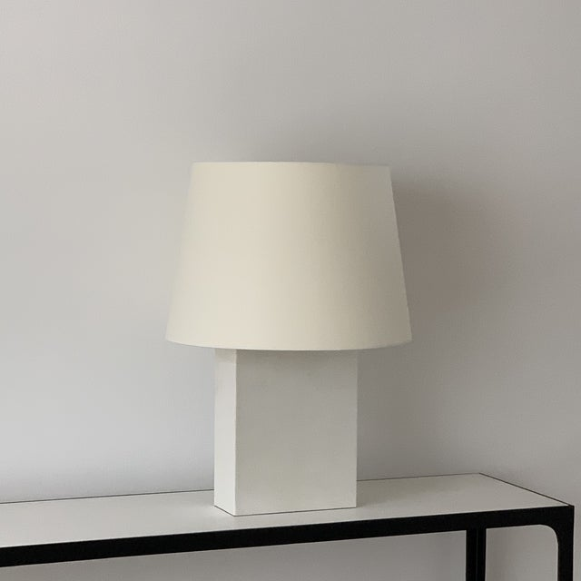 DESIGN FRERES Large 'Bloc' Parchment Table Lamp by Design Frères For Sale - Image 4 of 7