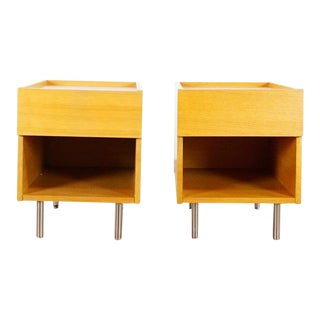 Modern West Elm Nightstands- A Pair For Sale