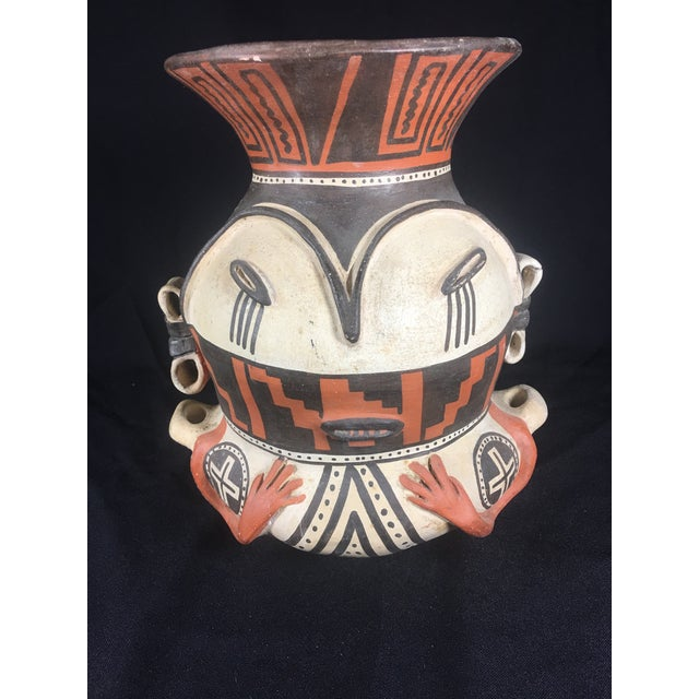 Orange Mid-Century Peruvian Pottery Vase For Sale - Image 8 of 8