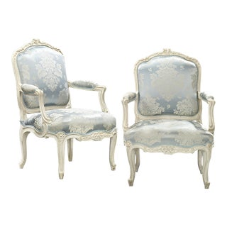 Louis XV Armchairs by Jean-René Nadal L'Ainé For Sale