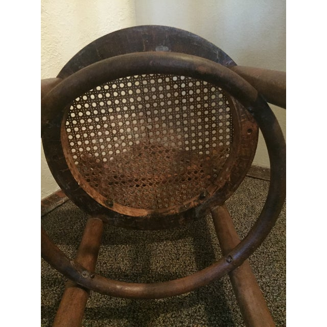 Chestnut 1930s Antique Thonet Style Bentwood Counter Bar Stool For Sale - Image 8 of 13