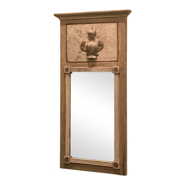 French Trumeau Style Mirror For Sale