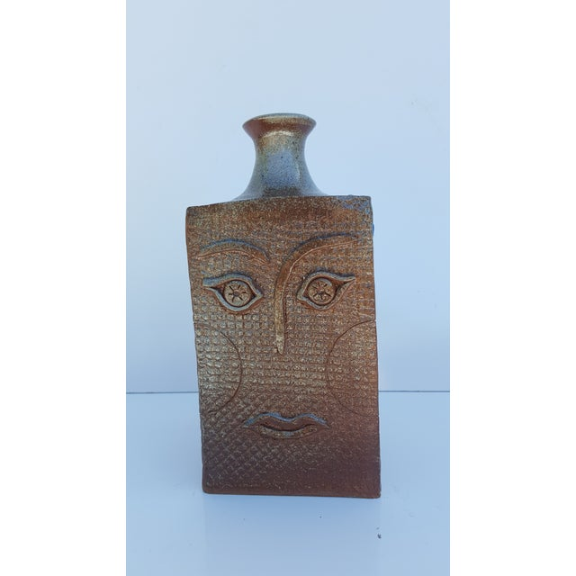 1980s Vintage Art Handmade Sculptural Studio Pottery Vase For Sale - Image 5 of 11