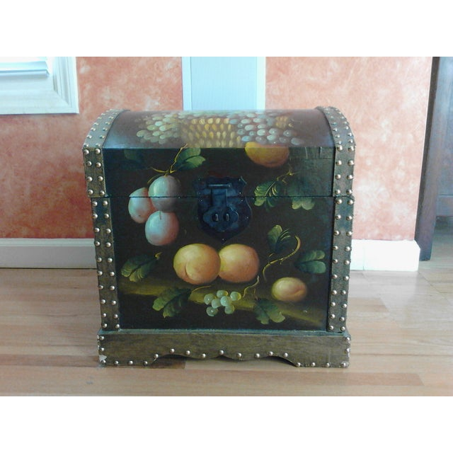 Hand-Painted Storage Chest - Image 3 of 7