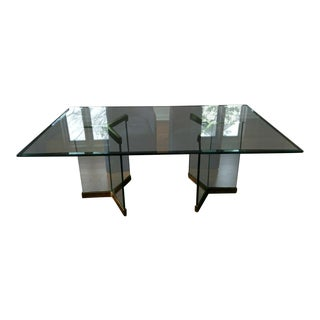 Leon Rosen Pace Collection Glass Dining Table