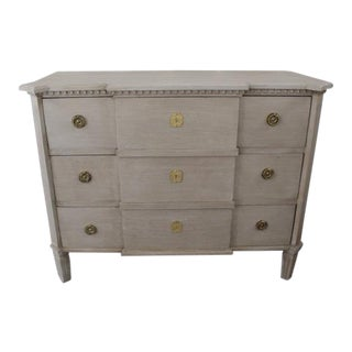 20th Century Swedish Gray Commode For Sale