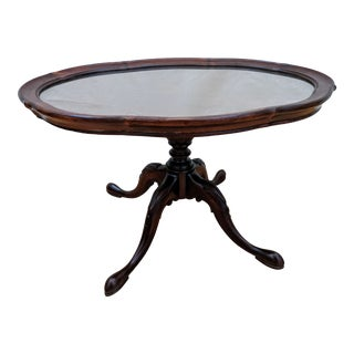Antique Traditional Mahogany Grand Rapids Imperial Furniture Tray Table For Sale