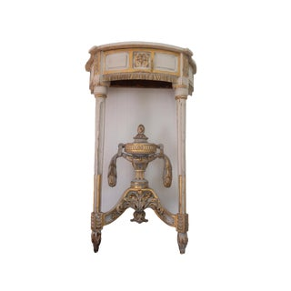 18th Century Antique French Marble Console Table Louis XVI Neoclassical Carved Wood For Sale