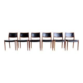 Vintage Niels O. Møller for j.l. Møllers Møbelfabrik Rosewood Dining Chairs - Set of 6 For Sale