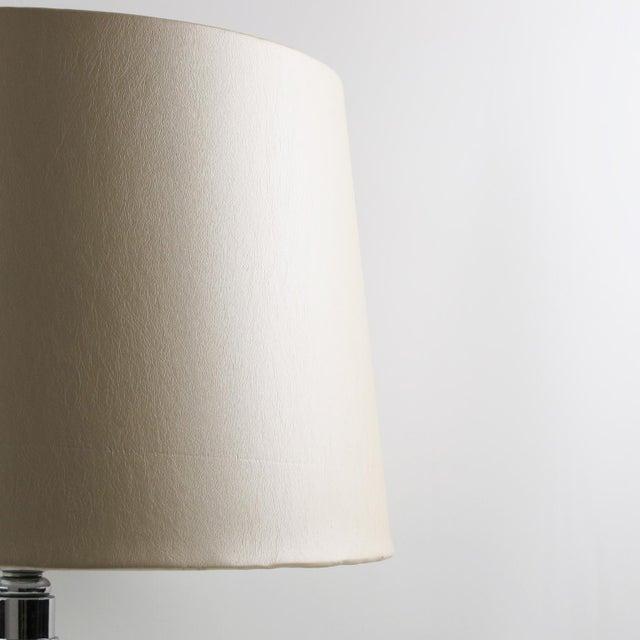 Chrome Art Deco 1930s Shagreen Chrome Modernist Table Lamp For Sale - Image 8 of 9