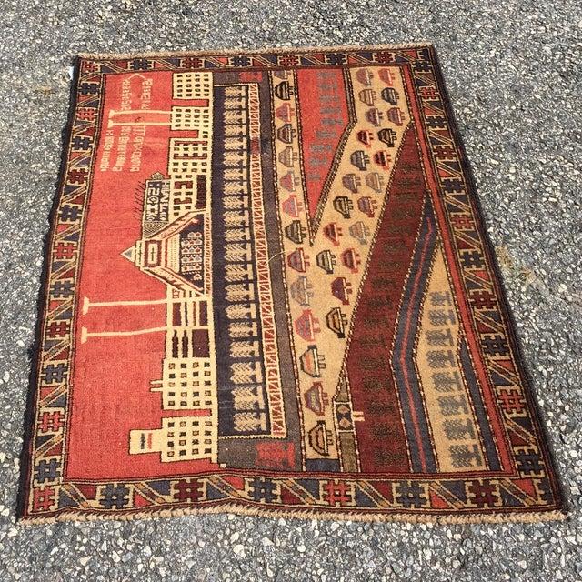 "Vintage Baluchi Persian Rug - 2'11"" x 3'10"" - Image 2 of 10"