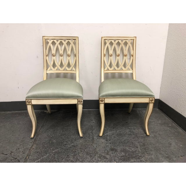 Horchow Maitland-Smith Pillar Chairs - a Pair For Sale - Image 13 of 13