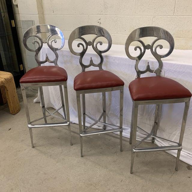 O'Brien Ironworks Biedermeier Bar Stools - Set/3 For Sale - Image 12 of 13