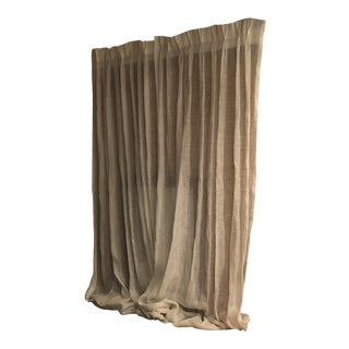 Sheer Drapes in Oyster Color - a Pair For Sale