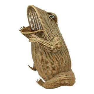 Vintage Wicker Frog Basket For Sale
