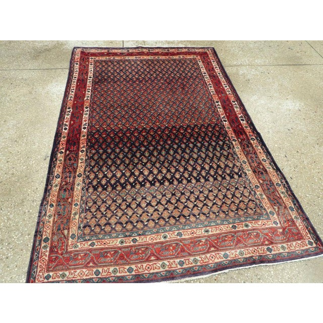 "Mid 20th Century Vintage Persian Malayer Rug – Size: 3'4"" X 5' 1"" For Sale - Image 5 of 10"