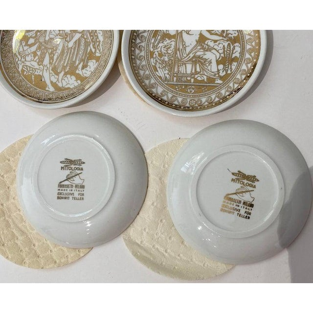 "Mid 20th Century Mid-Century Modern Fornasetti ""Mitologia"" Coasters - 2 Boxed Sets, 16 Coasters in All For Sale - Image 5 of 13"