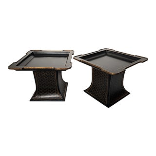 Chinoiserie Decorated Side Tables - a Pair