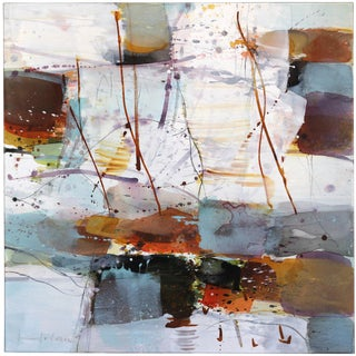 """Abstract Original Painting, """"Northern Landscape"""" by Greet Helsen For Sale"""