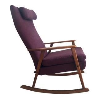 Mid-Century Modern Danish Teak Rocking Lounge Arm Chair
