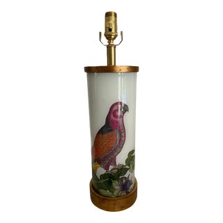 Eden Pink Parrot Lamp For Sale