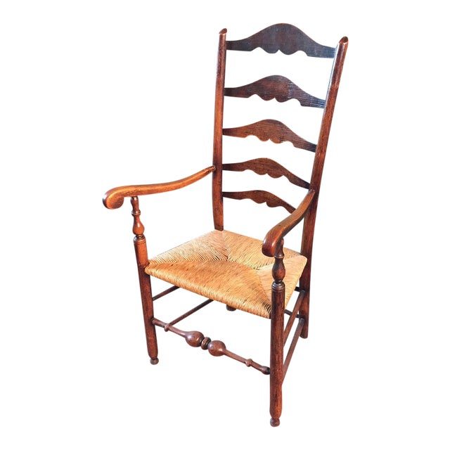English Ladderback Chair For Sale