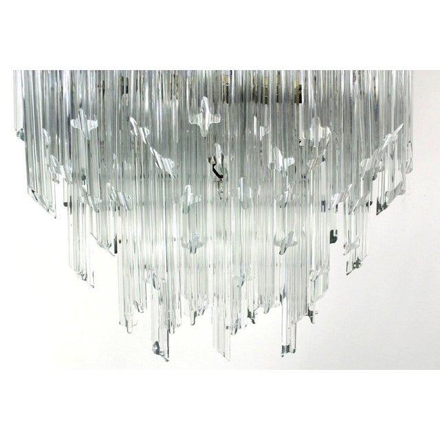 Camer Mid-Century Modern Murano Chandelier Glass Prisms Light Fixture For Sale - Image 9 of 9