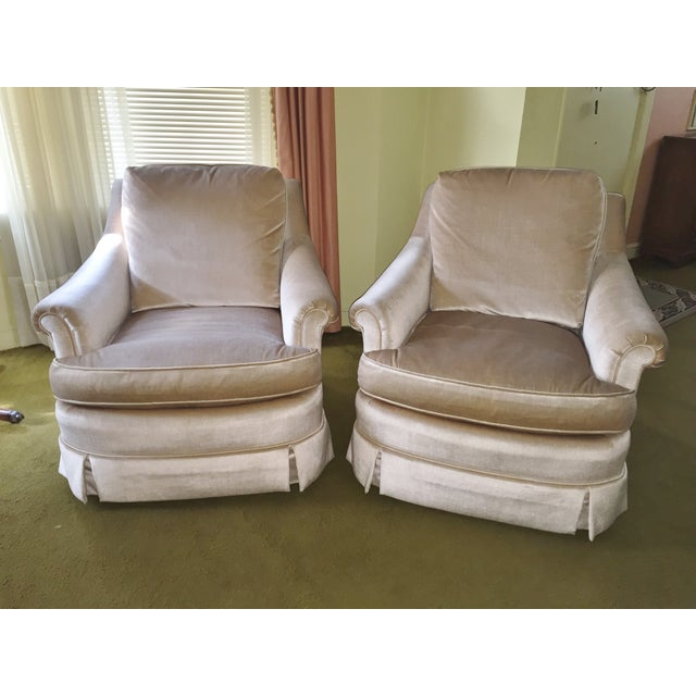 Mid-Century Baker Furniture Club Chairs - A Pair - Image 2 of 8