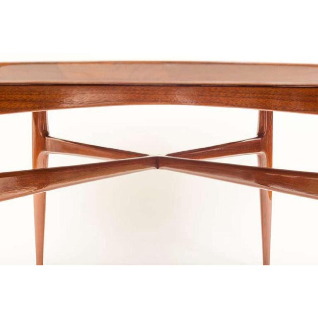 Art Deco Mahogany Mid-Century Cocktail Table For Sale - Image 3 of 12