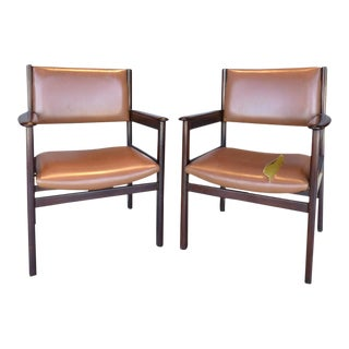 1950s Jacaranda Wood Armchairs by Sergio Rodrigues for OCA - A Pair For Sale